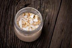 Sobremesa natural do kefir da banana Imagens de Stock
