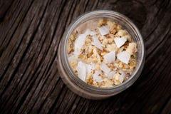 Sobremesa natural do kefir da banana Foto de Stock Royalty Free