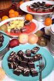 Sobremesa no bufete Imagem de Stock