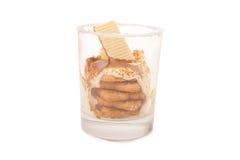 Sobremesa no vidro fotografia de stock