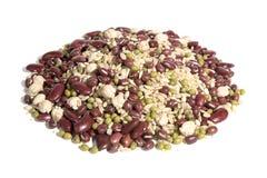 Sobremesa orgânica de 8 grão-feijões Fotografia de Stock