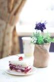 Sobremesa saboroso com uma cereja Imagens de Stock Royalty Free