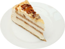 Sobremesa saboroso do bolo com frutos, porcas e queijo creme Foto de Stock Royalty Free