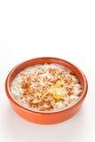 Sobremesa saboroso do pudim de arroz da canela Foto de Stock