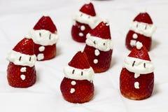 Sobremesa Santa Claus Strawberries fotos de stock royalty free