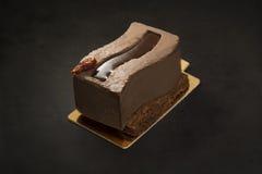 Sobremesa 'sexy' de Xocolata em um fundo preto Foto de Stock Royalty Free