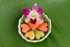 Sobremesa tailandesa chamada choup do olhar do khanom Imagens de Stock