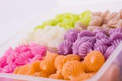 Sobremesa tailandesa colorida Fotos de Stock Royalty Free