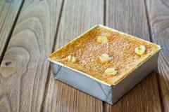 Sobremesa tailandesa Mung Bean Thai Custard D imagens de stock