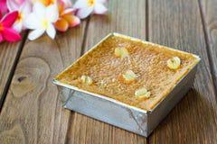 Sobremesa tailandesa Mung Bean Thai Custard D fotos de stock