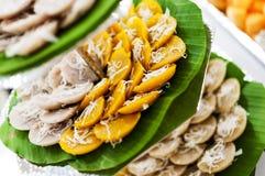 Sobremesa tailandesa tradicional doce imagem de stock