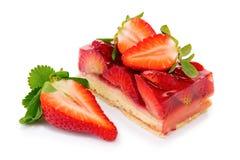 Sobremesa - torta da morango isolada Imagens de Stock Royalty Free