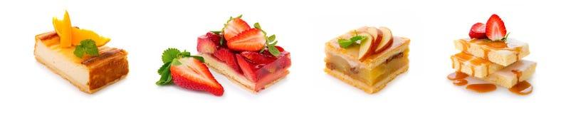 Sobremesa - torta da morango isolada Foto de Stock Royalty Free