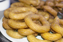 A sobremesa tradicional turca chamou Tulumba Imagem de Stock