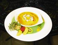 Sobremesa tropical fotografia de stock