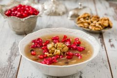 Sobremesa turca Ashura fotografia de stock