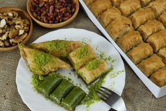 Sobremesa turca - baklava Imagem de Stock Royalty Free