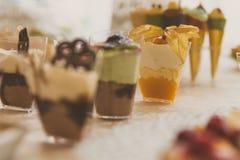 Sobremesas congeladas de abastecimento Fotografia de Stock Royalty Free