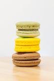 Sobremesas de Macaron Foto de Stock