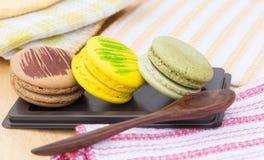 Sobremesas de Macaron Fotos de Stock
