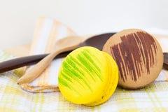 Sobremesas de Macaron Imagens de Stock