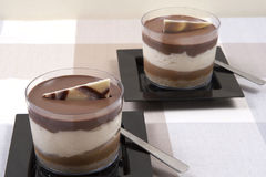 Sobremesas do chocolate Fotos de Stock Royalty Free