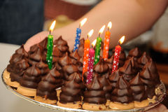 Sobremesas do chocolate Fotografia de Stock