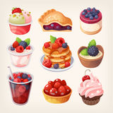 Sobremesas do fruto da floresta ilustração stock