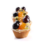 Sobremesas do fruto no fundo branco Imagem de Stock Royalty Free