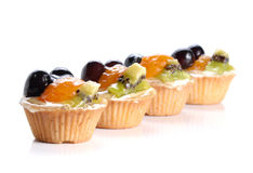 Sobremesas do fruto no fundo branco Foto de Stock