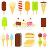 Sobremesas do gelado Foto de Stock