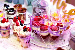 Sobremesas doces Imagem de Stock Royalty Free