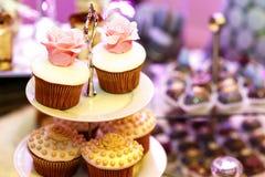 Sobremesas doces apetitosas saborosos Imagens de Stock Royalty Free
