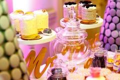 Sobremesas doces apetitosas saborosos Imagem de Stock