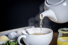 Sobremesas e chá Fotos de Stock Royalty Free