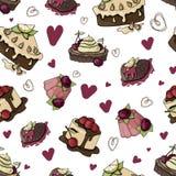Sobremesas e doces do vetor ilustração royalty free