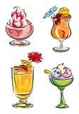 Sobremesas frias Fotografia de Stock Royalty Free