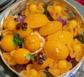 9 sobremesas tailandesas auspiciosos para a celebração nova da casa imagem de stock royalty free