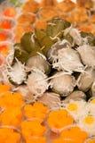 Sobremesas tailandesas da mistura no close-up do prato fotografia de stock
