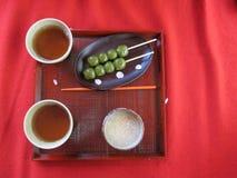 Sobremesas tradicionais japonesas Imagens de Stock