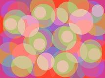 Sobreposição colorido dos círculos Imagem de Stock Royalty Free