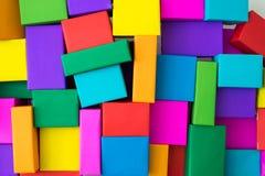 Sobrepuesto de cajas coloridas fotografía de archivo