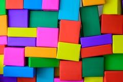 Sobrepuesto de cajas coloridas imagen de archivo libre de regalías
