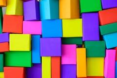 Sobrepuesto de cajas coloridas foto de archivo
