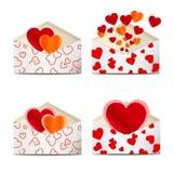 Sobres al día de tarjeta del día de San Valentín. Fotografía de archivo libre de regalías