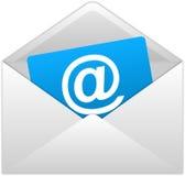Sobres blancos del correo Imagen de archivo libre de regalías