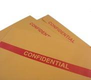 Sobres confidenciales del asunto Foto de archivo