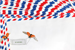 Sobres de la naturaleza del correo aéreo Foto de archivo libre de regalías