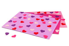 Sobres de la tarjeta del día de San Valentín Fotos de archivo