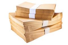 Sobres de papel de la pila Imagen de archivo
